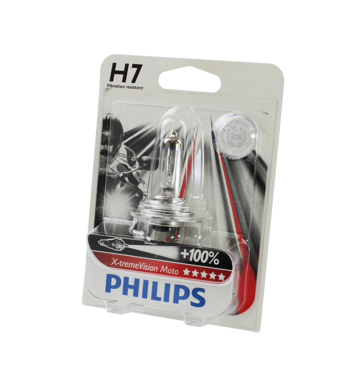 genuine philips motorcycle xtreme vision headlight bulb h7. Black Bedroom Furniture Sets. Home Design Ideas