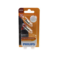 Genuine PHILIPS Premium Vision Parking Light Globe H6W 12V 6W - Pair (2 Pack)