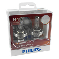 Genuine PHILIPS Extreme Vision H4 Globe 12V 60/55W PT43T-38- Twin Pack