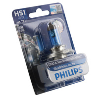 Genuine PHILIPS Motorcycle Blue Vision Headlight Bulb HS1 12V 35/35W PX43T-38