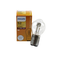Genuine PHILIPS Premium Vision Motorbike Headlight Globe S2 12V 35/35W - Single