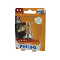 Genuine PHILIPS Premium Vision Headlight H7 Globe 12V 55W - Single Bulb