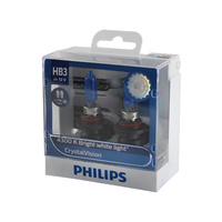 Genuine PHILIPS Crystal Vision Headlight HB3 12V 65W T10 LED Parker - Twin Pack