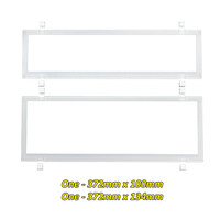 Number Plate Covers Slimline/Standard WHITE Clear Pair 6QSNLW QLD VIC ACT SA WA