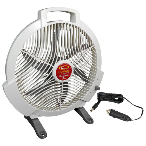 "Outdoor Connection Camping Fan 12V High Volume Airflow 3 Speeds 12"" Blades"